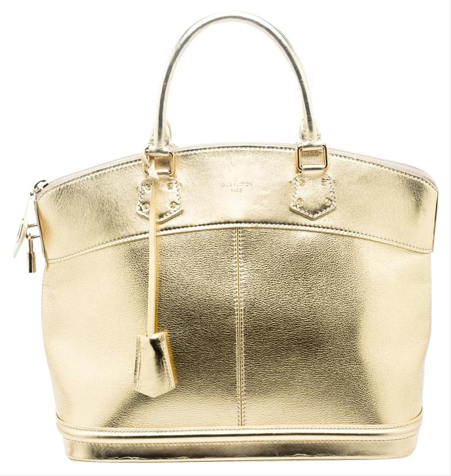 7673d8bbb975 Louis Vuitton Lockit Suhali Mm Gold Leather Tote - Tradesy