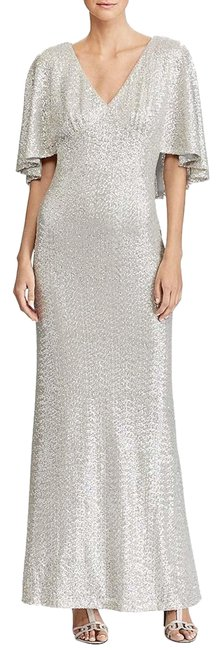 Preload https://img-static.tradesy.com/item/24751736/ralph-lauren-silver-sequin-overlay-gown-long-cocktail-dress-size-4-s-0-1-650-650.jpg