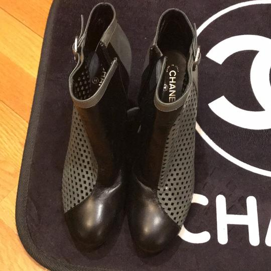 Chanel black and gray Boots Image 1