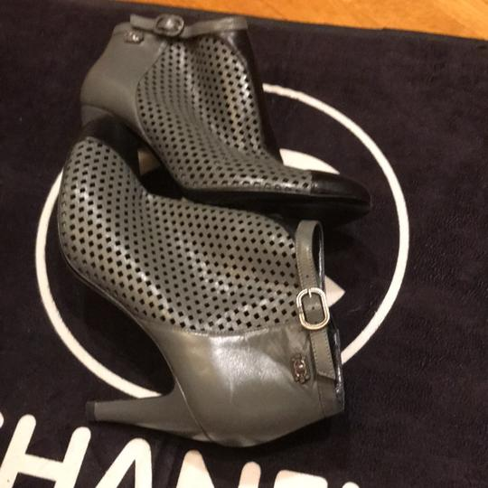 Chanel black and gray Boots Image 5