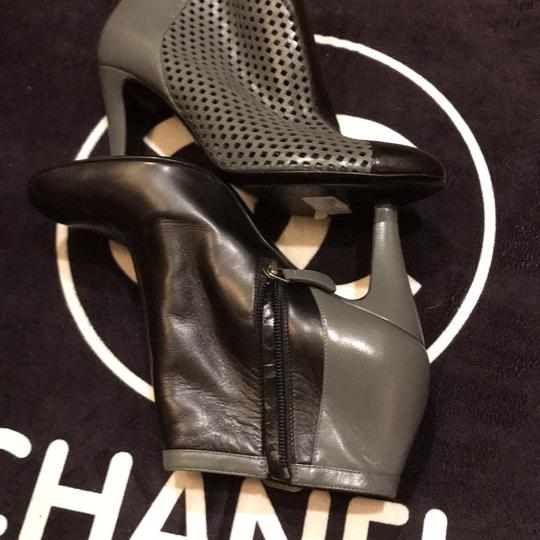 Chanel black and gray Boots Image 6