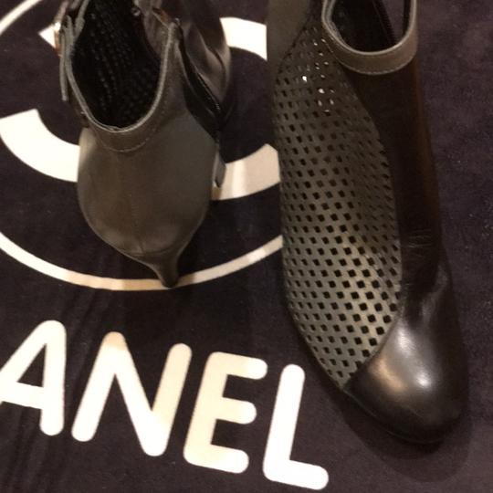Chanel black and gray Boots Image 7