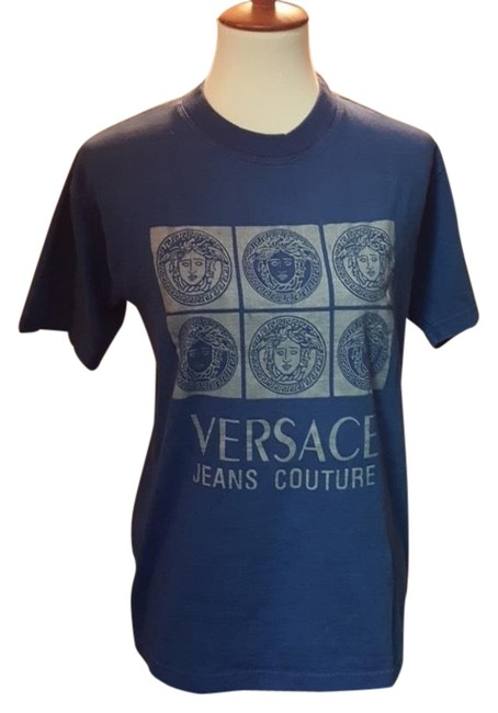 Preload https://img-static.tradesy.com/item/24751791/versace-jeans-collection-blue-1990s-logo-tee-shirt-size-4-s-0-1-650-650.jpg