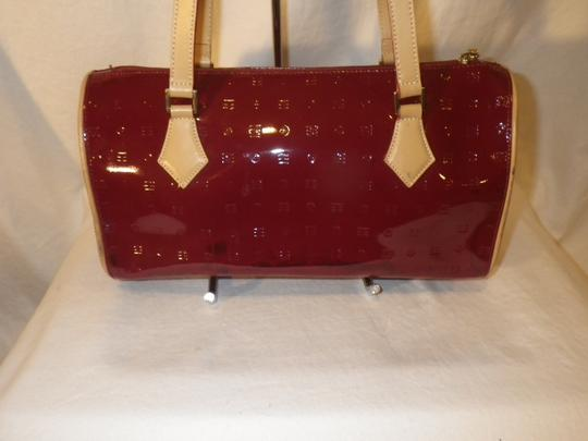 Arcadia Patent Leather Burbundy Speedy Shoulder Bag Image 1