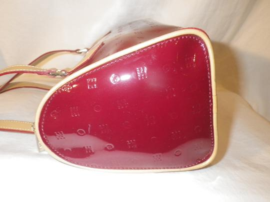 Arcadia Patent Leather Burbundy Speedy Shoulder Bag Image 4