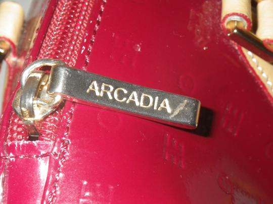 Arcadia Patent Leather Burbundy Speedy Shoulder Bag Image 8