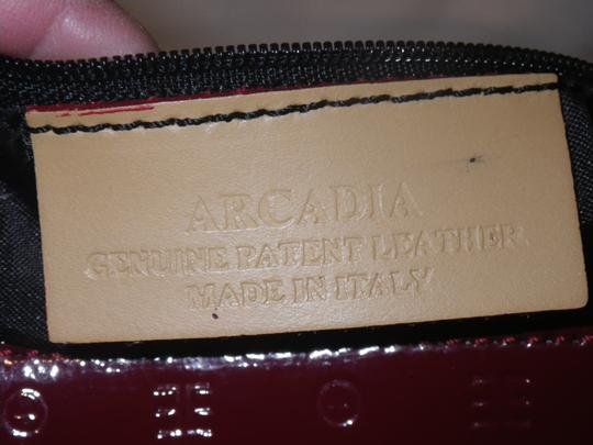 Arcadia Patent Leather Burbundy Speedy Shoulder Bag Image 9