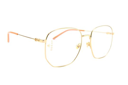 Gucci Gucci GG0396S Gold Clear Lens Metal Sunglasses Image 1