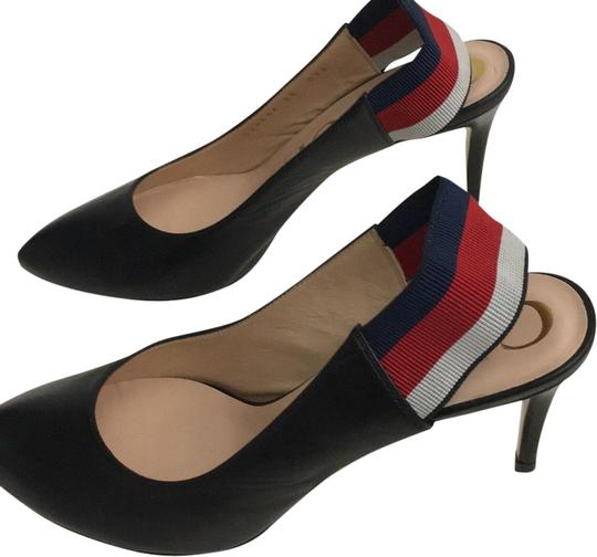 Gucci Webby Marmont Mule Ribbon Leather black Pumps Image 1