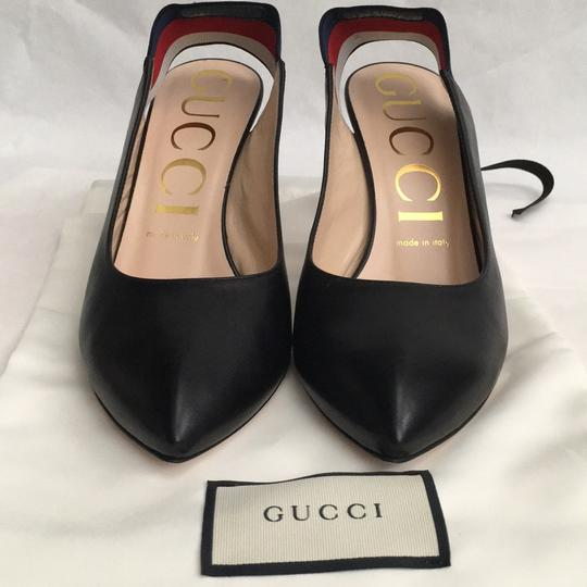 Gucci Webby Marmont Mule Ribbon Leather black Pumps Image 2