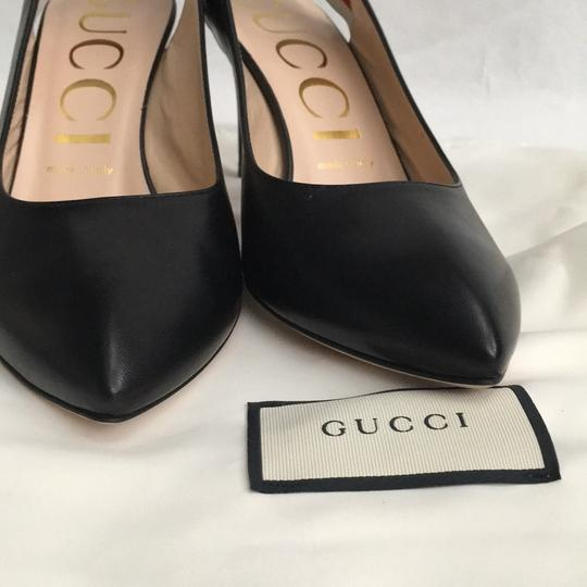 Gucci Webby Marmont Mule Ribbon Leather black Pumps Image 3