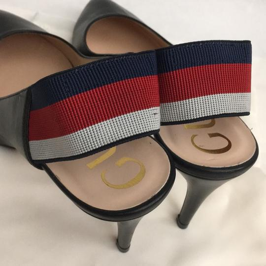 Gucci Webby Marmont Mule Ribbon Leather black Pumps Image 5