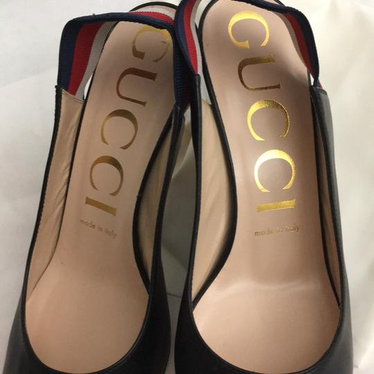 Gucci Webby Marmont Mule Ribbon Leather black Pumps Image 7