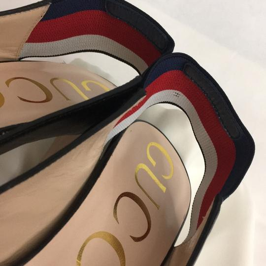 Gucci Webby Marmont Mule Ribbon Leather black Pumps Image 8