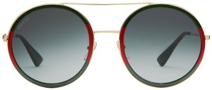 Gucci Gucci GG0061S 0061S Round Double Bridge Sunglasses