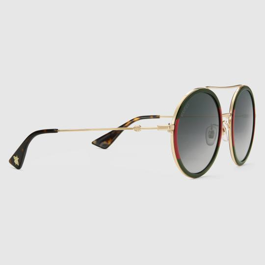 Gucci Gucci GG0061S 0061S Round Double Bridge Sunglasses Image 1