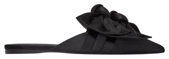 Item - Black With Bow Mules/Slides Size US 6 Regular (M, B)
