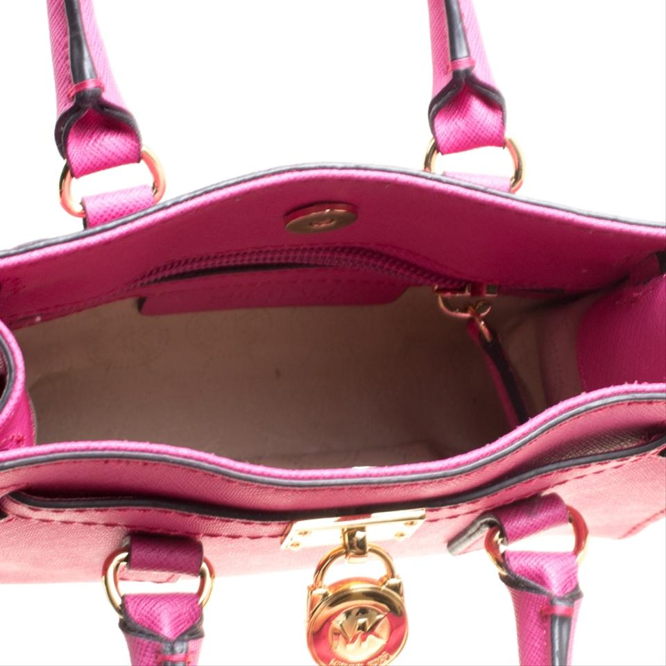 Michael Kors Hot Saffiano Mini Hamilton Pink Leather Cross Body Bag ... b0ed3ce2c4