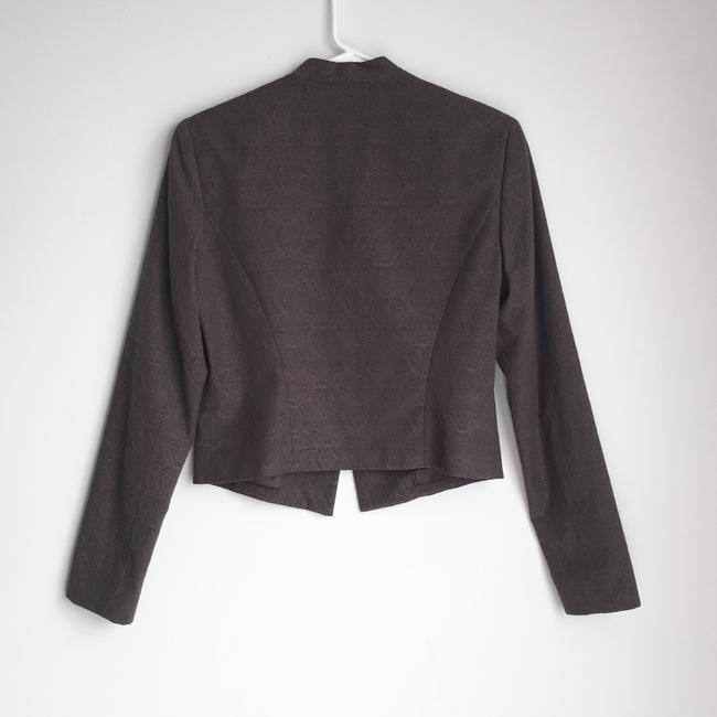 Tahari Embroidered Fitted Bronze Top Brown Image 4