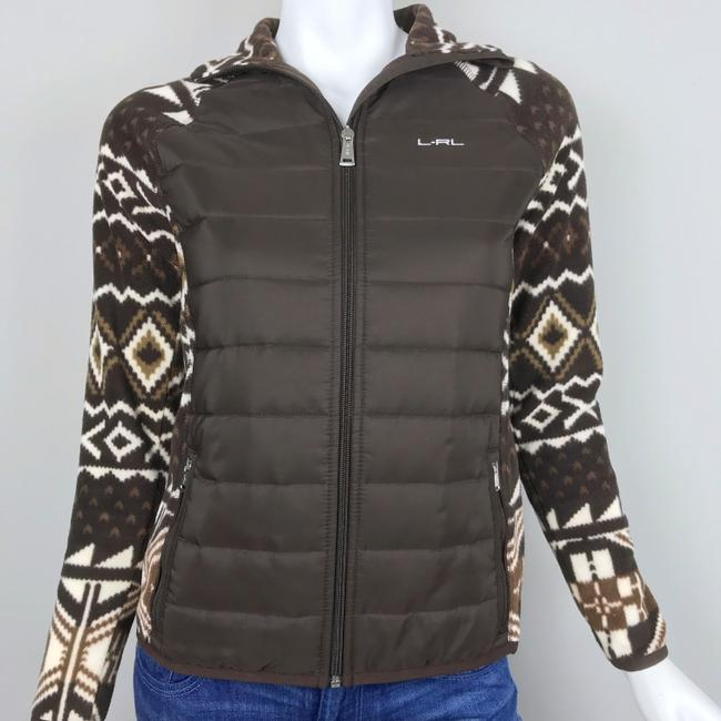 Lauren Ralph Lauren Fleece Jacket Athletic Aztec Jacket Image 1