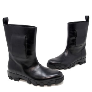 Balenciaga Black Mens Leather Pocketed Rubber Sole Boots Size 40 Shoes