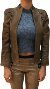 Skaist Taylor Croppedleatherjacket Brownleatherjacket Springjacket Skaisttaylorjacket Brown Leather Jacket