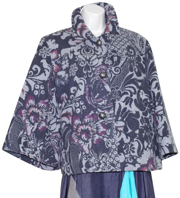 Preload https://img-static.tradesy.com/item/24752025/cole-haan-gray-floral-collection-wool-blend-women-jacket-swing-coat-ponchocape-size-14-l-0-1-650-650.jpg