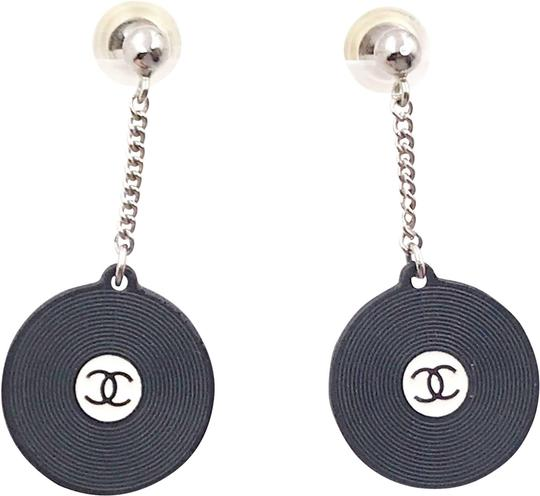 Preload https://img-static.tradesy.com/item/24752050/chanel-black-silver-white-vintage-super-rare-record-disc-dangling-piercing-earrings-0-1-540-540.jpg