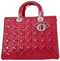 Dior Lady Large Purse Tote in red Image 0
