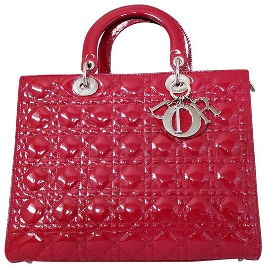 Preload https://img-static.tradesy.com/item/24752056/dior-lady-dior-large-purse-red-patent-leather-tote-0-2-540-540.jpg
