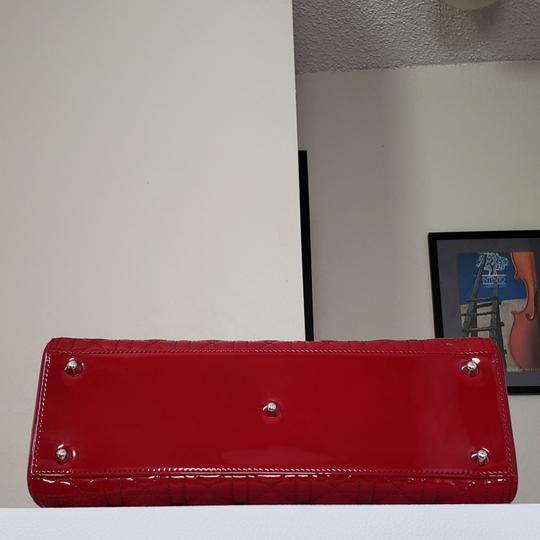 Dior Lady Large Purse Tote in red Image 1
