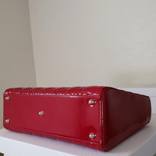 Dior Lady Large Purse Tote in red Image 2