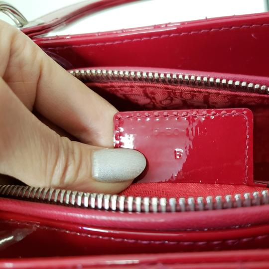 Dior Lady Large Purse Tote in red Image 4