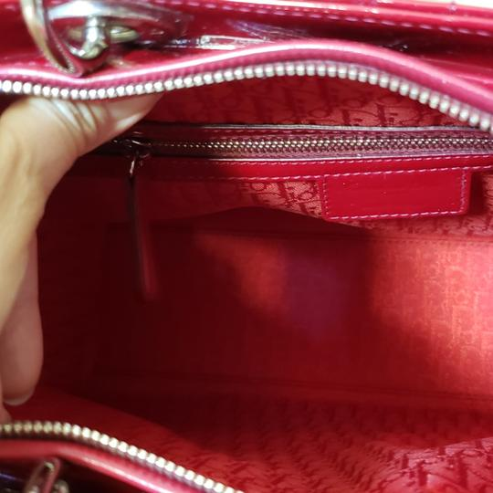 Dior Lady Large Purse Tote in red Image 10