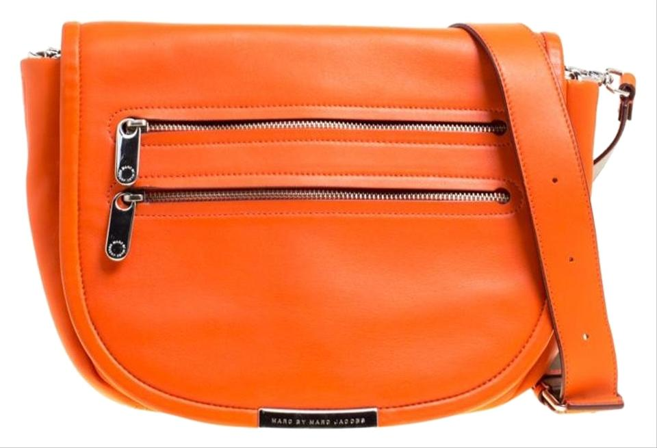 e914b2b6c282 Marc by Marc Jacobs Large Luna Orange Leather Shoulder Bag - Tradesy