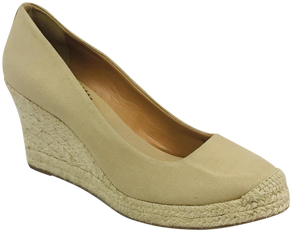 c54079eeb4a Flax Canvas Espadrille Wedges