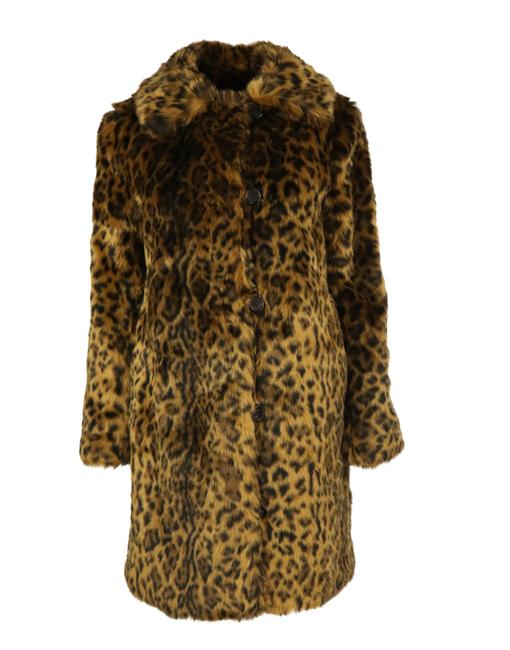 Item - Brown Leopard Print Faux Coat Size 4 (S)