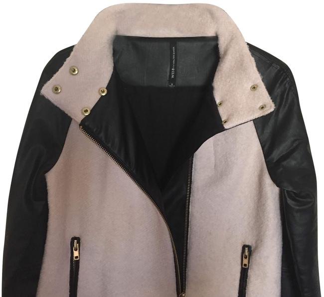 W118 by Walter Baker Vegan Leather Quilted Edgy Classic Pea Coat Image 1