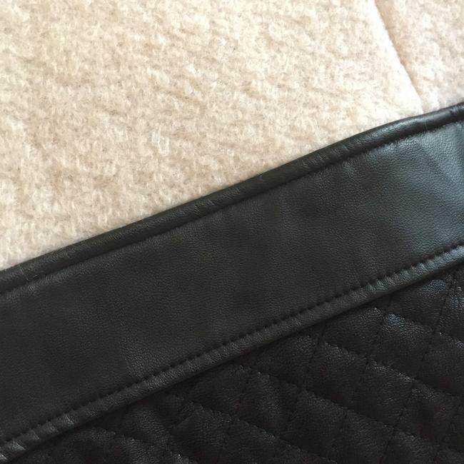 W118 by Walter Baker Vegan Leather Quilted Edgy Classic Pea Coat Image 5