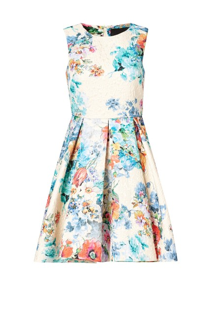 Preload https://img-static.tradesy.com/item/24752201/ted-baker-pinks-and-reds-cynthia-rowley-white-ivory-jacquard-floral-women-pleat-a-line-mid-length-wo-0-0-650-650.jpg