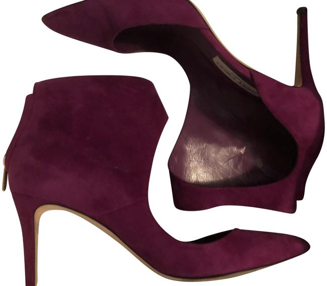Jimmy Choo Purple/Fuchsia Madeline Suede Boots/Booties Size EU 40.5 (Approx. US 10.5) Regular (M, B) Jimmy Choo Purple/Fuchsia Madeline Suede Boots/Booties Size EU 40.5 (Approx. US 10.5) Regular (M, B) Image 1