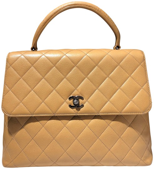 Preload https://img-static.tradesy.com/item/24752270/chanel-with-coco-kelly-flapbag-top-handle-quilted-silver-hardware-tan-beige-caviar-leather-satchel-0-2-540-540.jpg
