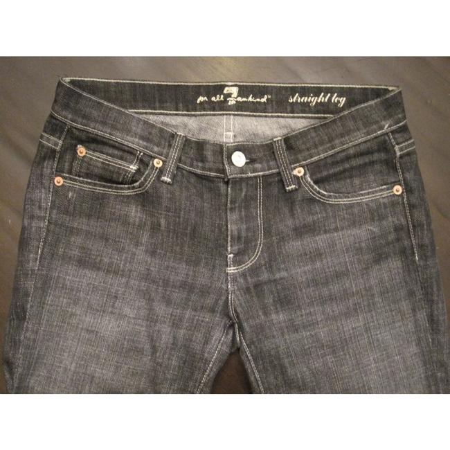 7 For All Mankind Straight Leg Jeans-Dark Rinse Image 1