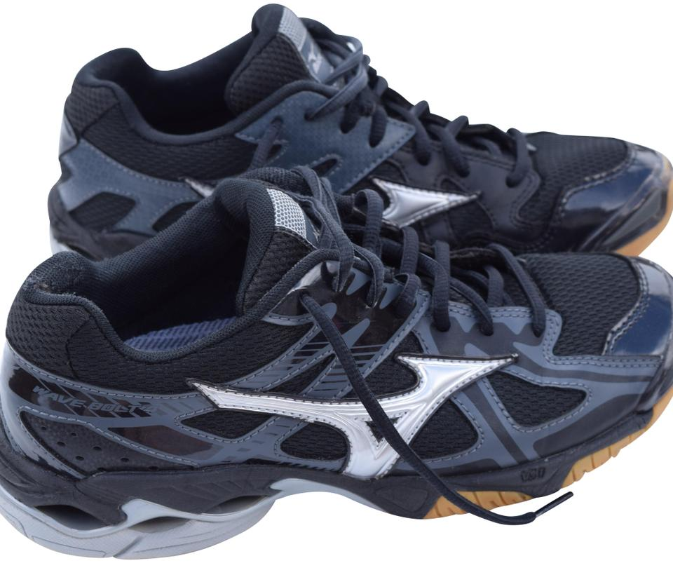 fd48c4b335c0 Mizuno Black & Silver Wave Bold 4 Volleyball Sneakers Size US 8.5 ...
