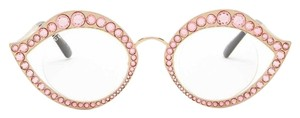 Gucci Authentic Gucci 41mm Cat eye Metal Crystals opt.Glasses