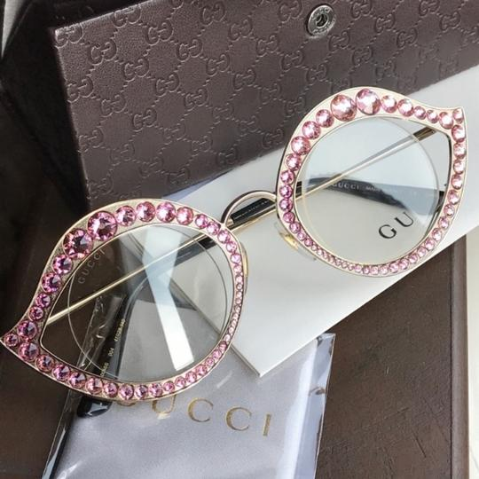 Gucci Authentic Gucci 41mm Cat eye Metal Crystals opt.Glasses Image 1
