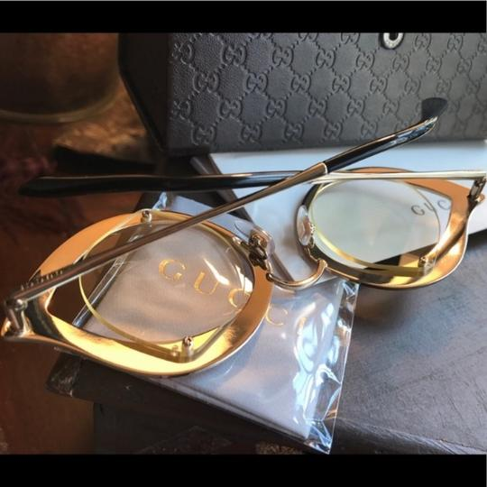 Gucci Authentic Gucci 41mm Cat eye Metal Crystals opt.Glasses Image 2
