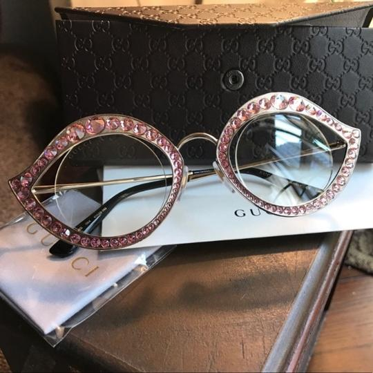Gucci Authentic Gucci 41mm Cat eye Metal Crystals opt.Glasses Image 3