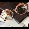 Gucci Authentic Gucci 41mm Cat eye Metal Crystals opt.Glasses Image 4