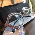 Gucci Authentic Gucci 41mm Cat eye Metal Crystals opt.Glasses Image 5